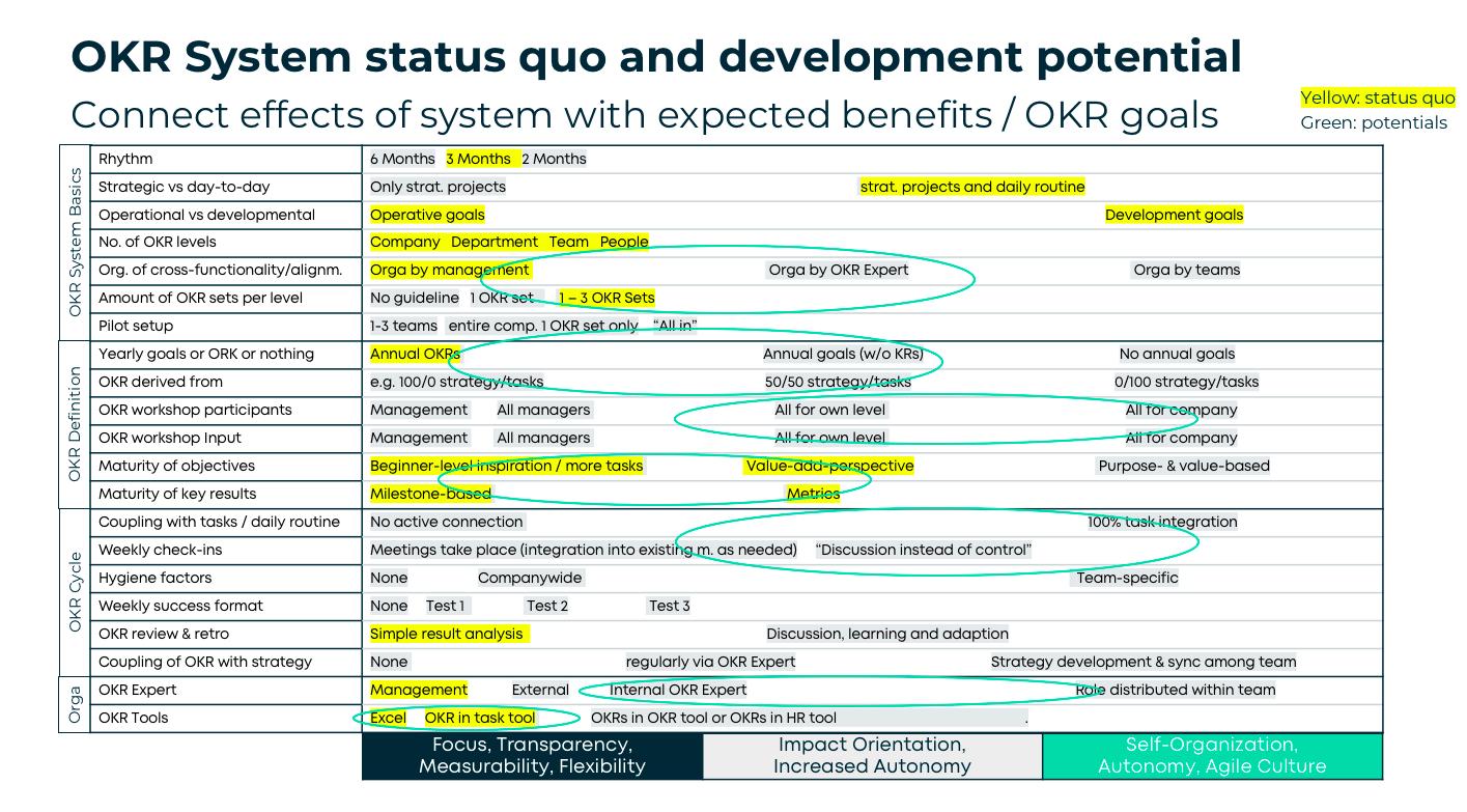 OKR Audit mit dem OKR System-Schema